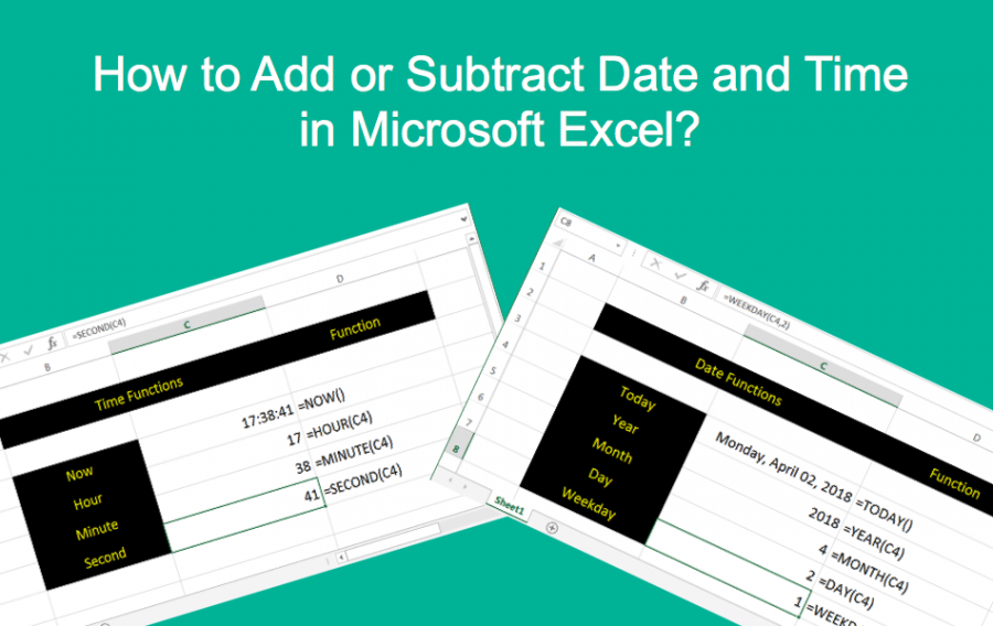 How to Add or Subtract Date and Time in Microsoft Excel?