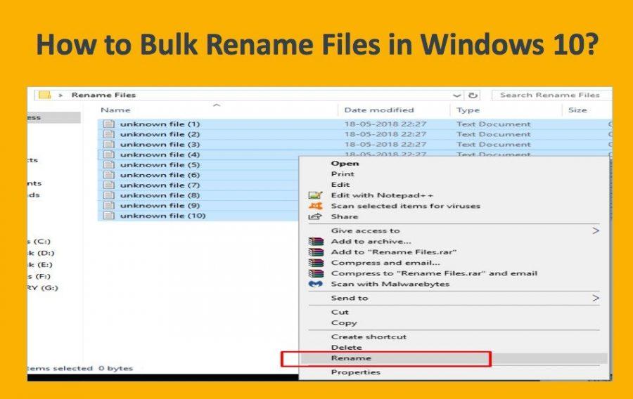 How to Bulk Rename Files in Windows 10?