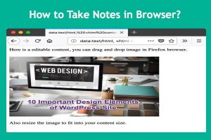 How to Take Notes in Browser?