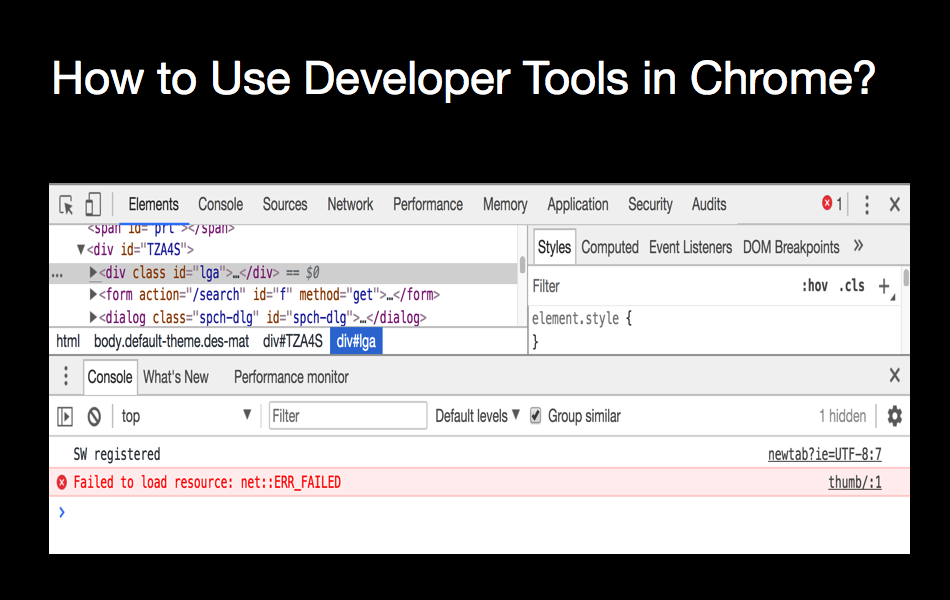 How to Use Developer Tools in Chrome?