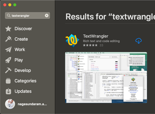 Install TextWrangler in Mac