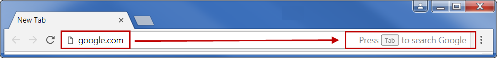 Press Tab to Search in Chrome Address Bar
