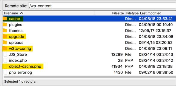 Residual W3TC Files