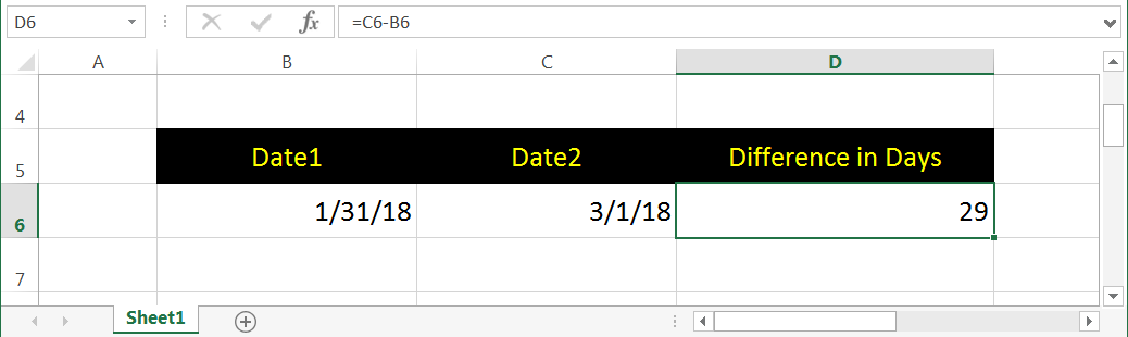 Subtracting Two Dates
