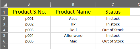 Table for VLOOKUP