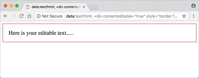 Using CSS with Contenteditable Attribute