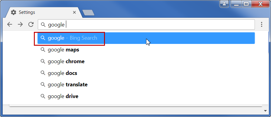Using Predictions to Search with Default Search Engine