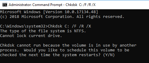 Chkdsk Command In Command Prompt