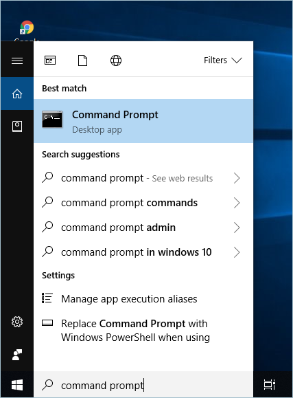 Command Prompt In Start Menu