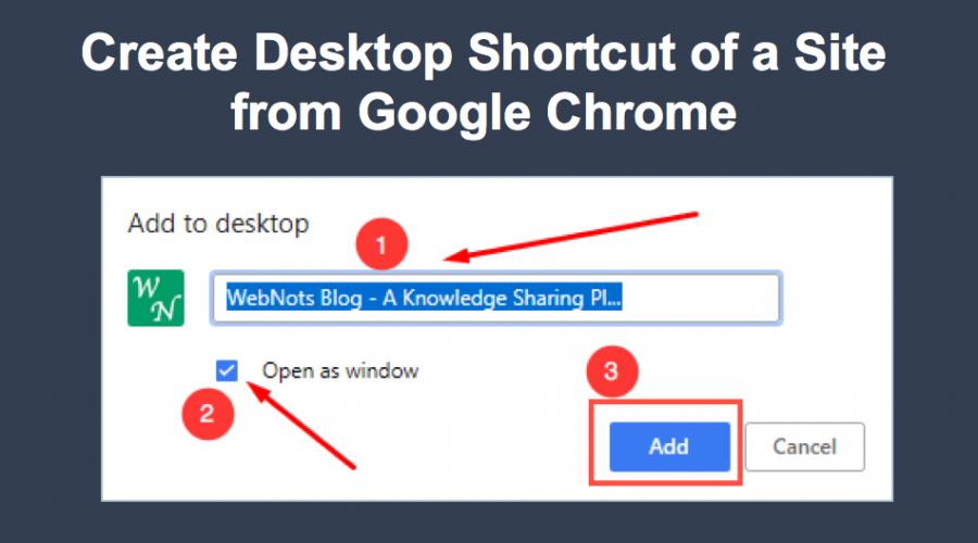 Create Desktop Shortcut in Google Chrome Mac and Windows