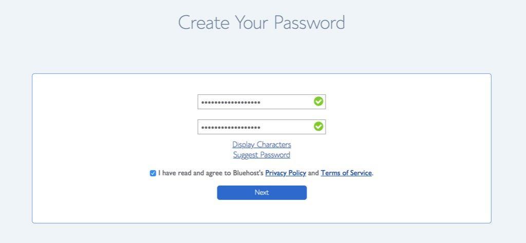 Creating Login Password
