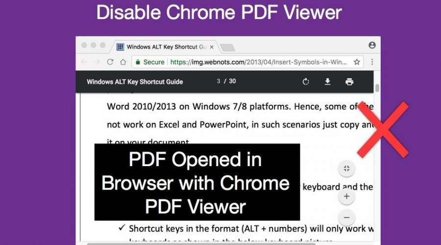 How to Disable Chrome PDF Viewer and Download PDF Files?