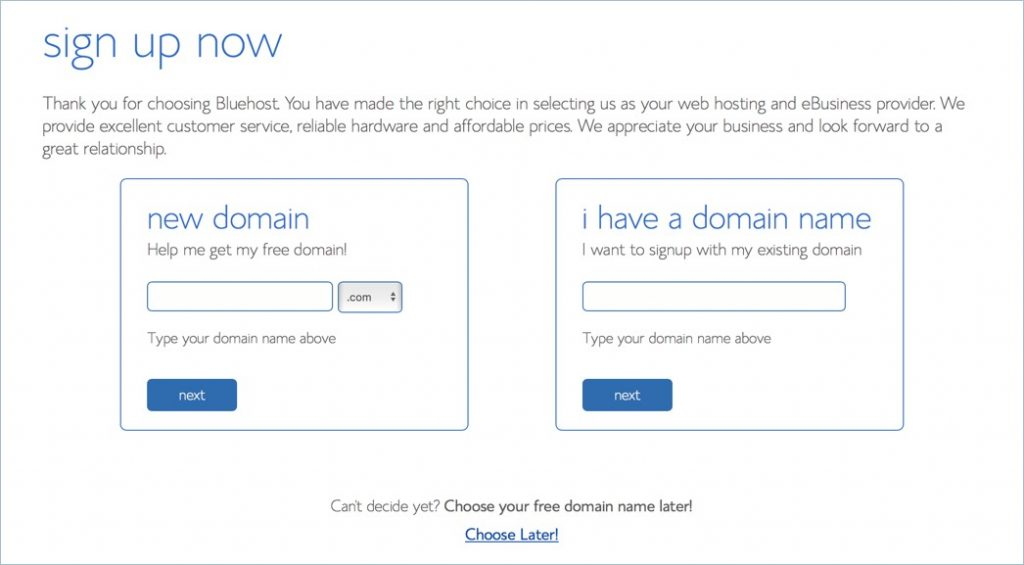 Enter Primary Domain for Signup