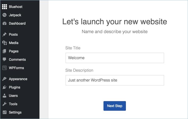Enter Site Details