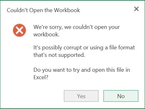 Excel Web App Problem