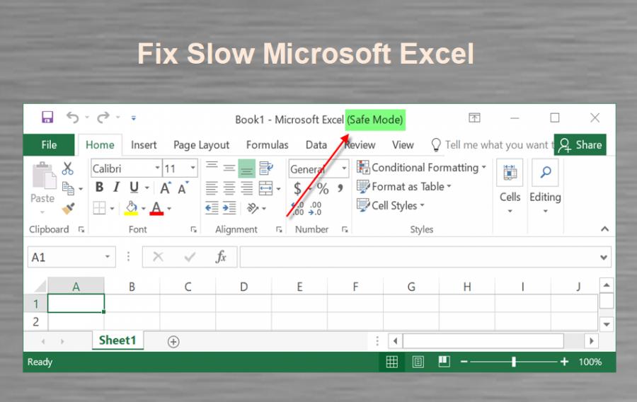 Fix Microsoft Excel Slow