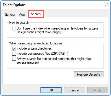 Folder Options for File Explorer