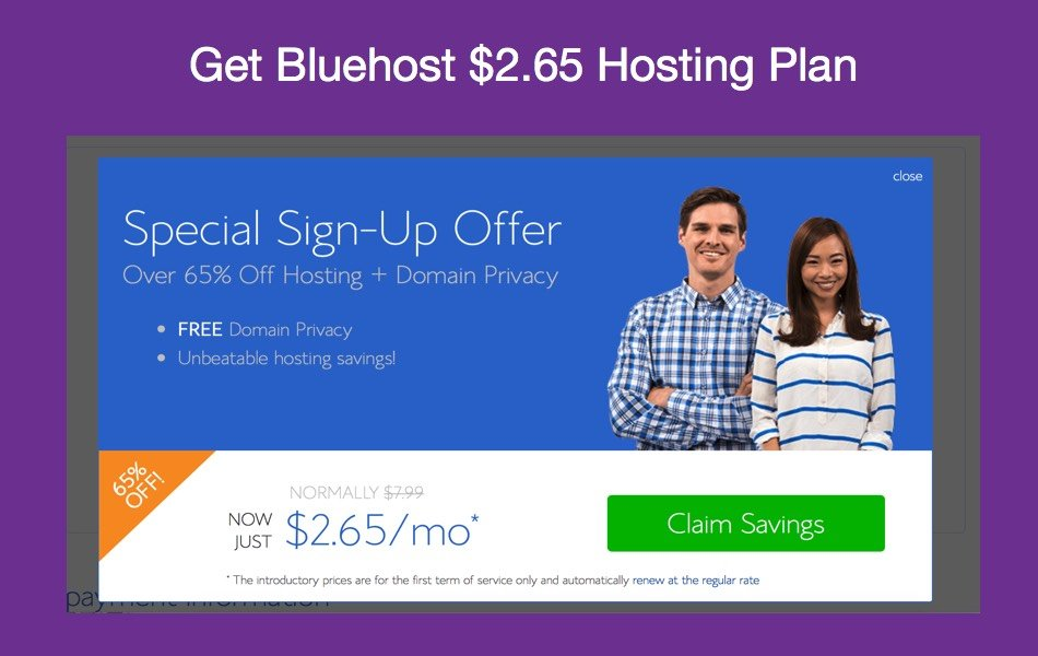 How to Get Lowest Price for Bluehost Hosting Account [$2.65]?