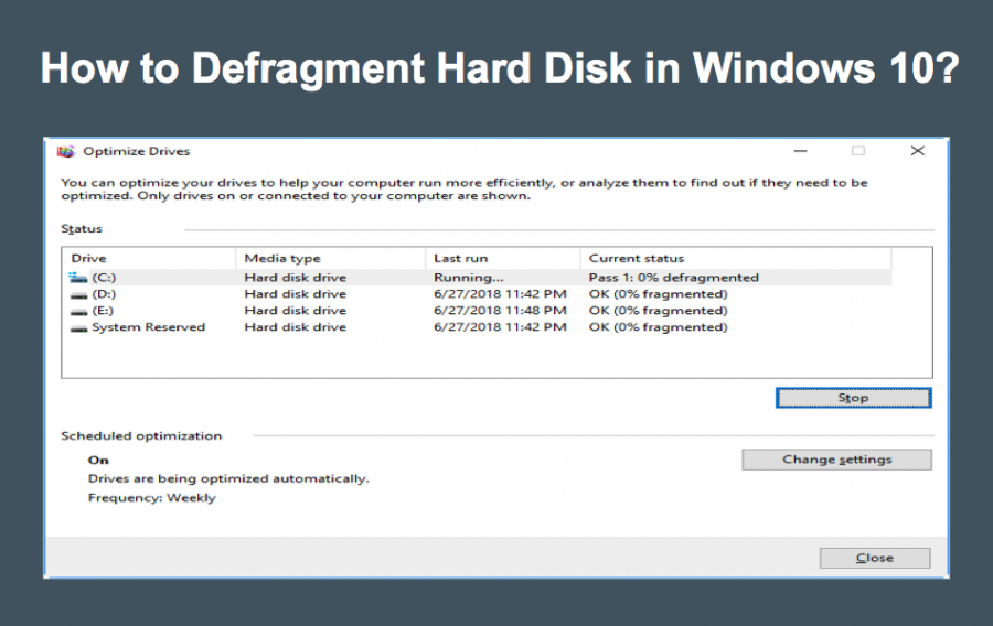 How to Defragment Hard Disk in Windows 10?