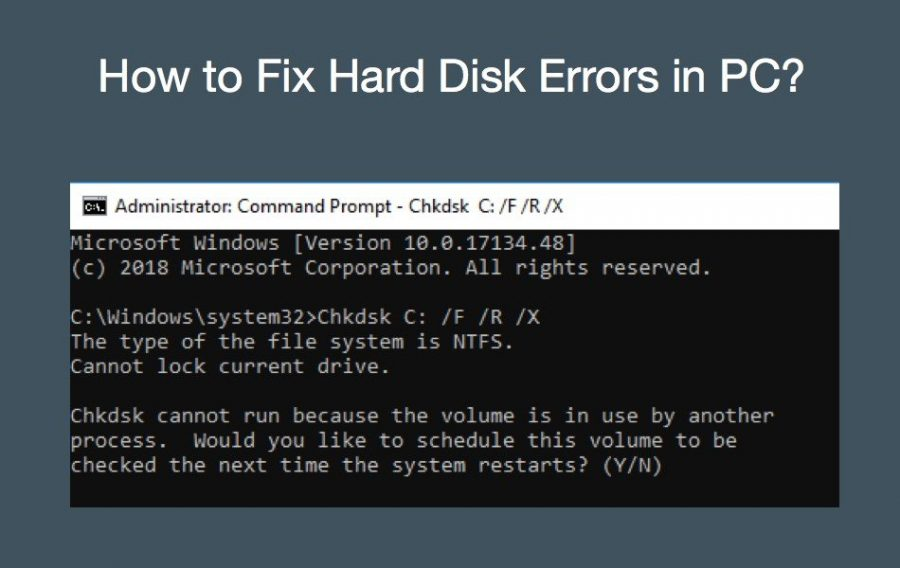 How to Fix Hard Disk Errors in PC?
