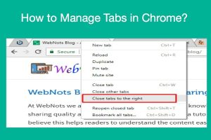 How to Manage Tabs in Chrome?