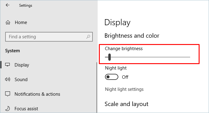 how to change the brightness of laptop