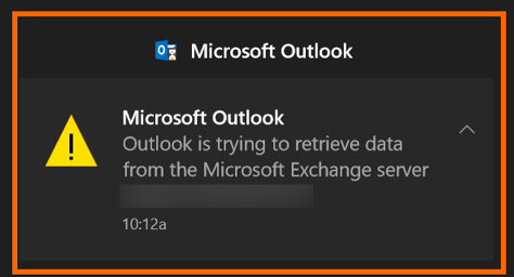 Microsoft Outlook Exchange Server Problem