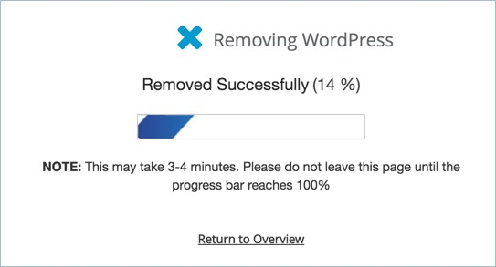 Removing WordPress Installation