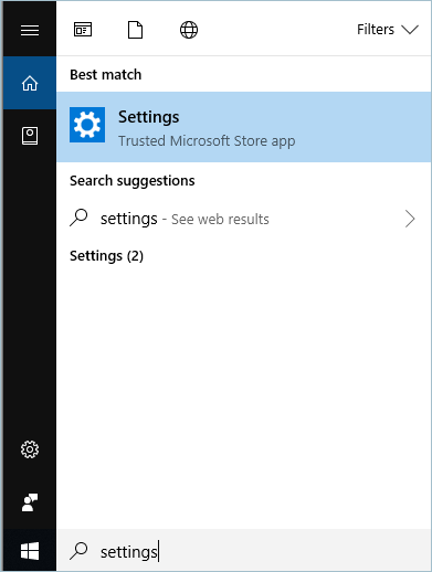 Settings App In Start Menu
