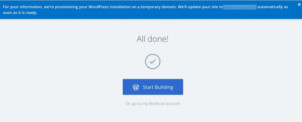 Start Building or Login to Hosting Account