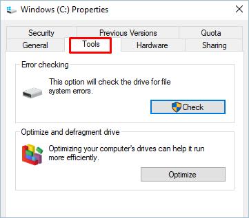 Tools In Properties