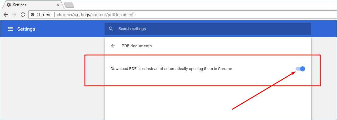 Turn on to Download PDF Files