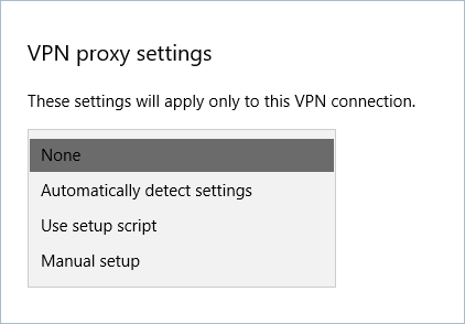 VPN Proxy Settings