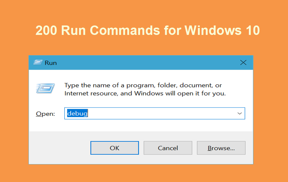 200 Run Commands for Windows 10