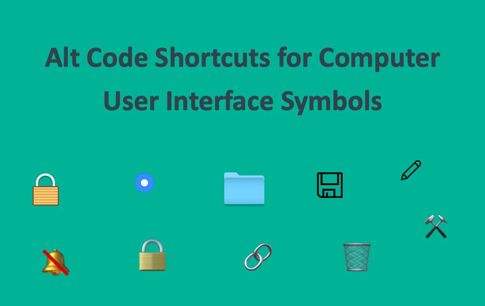 Alt Code Shortcuts For Computer User Interface Symbols Webnots