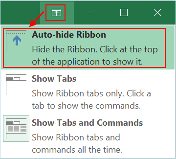 Auto Hide Ribbon