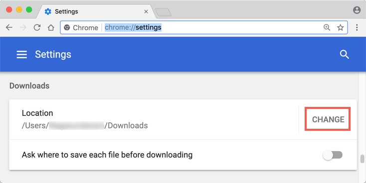 Change Download Folder Location in Chrome