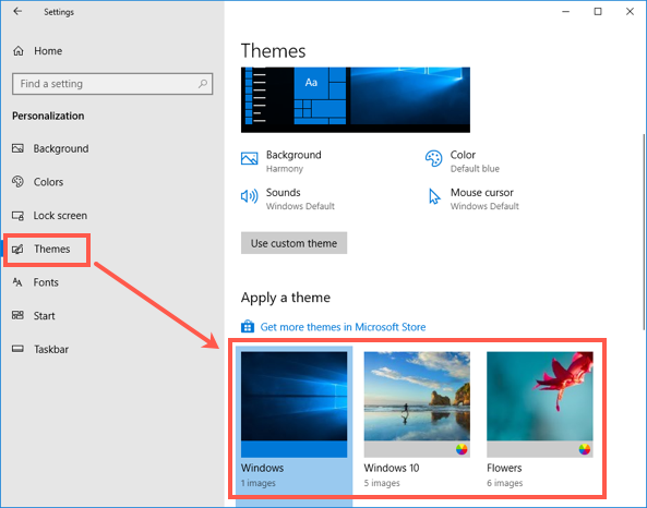 Change Theme in Windows 10