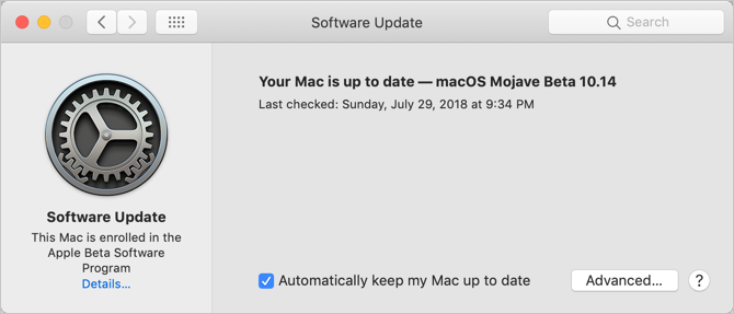 Check macOS Software Update