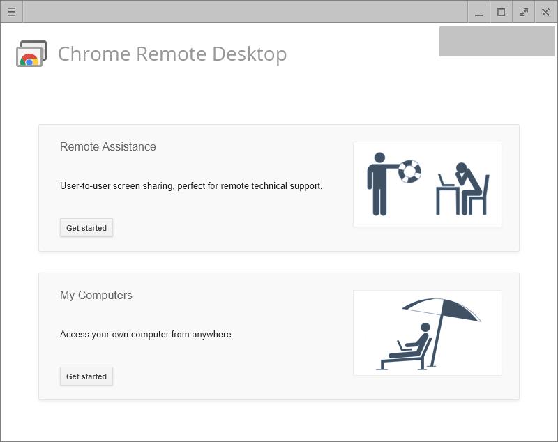 Chrome Remote Desktop Getting Started