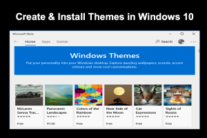 Create & Install Themes in Windows 10