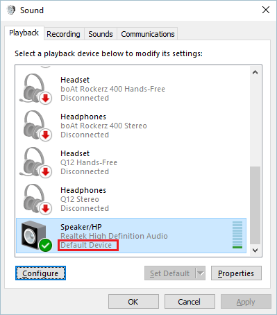 Set Default Audio Device
