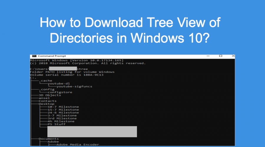 How to Download Tree View of Directories in Windows 10?