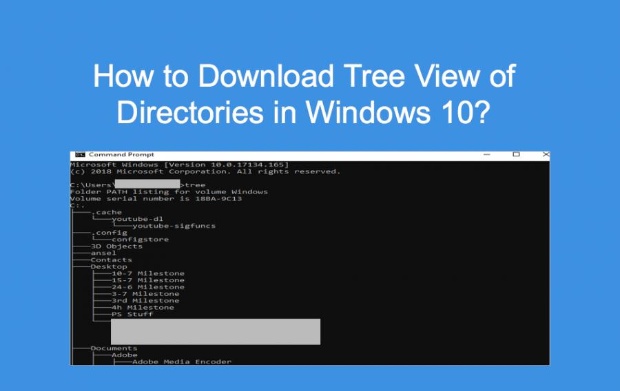 Download Tree View of Directories in Windows