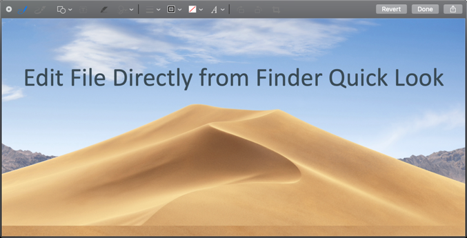Edit File in Finder Quick Look