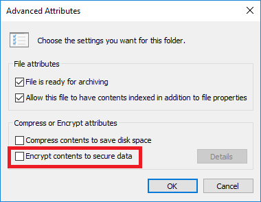 Encrypting File With Windows 10 Pro