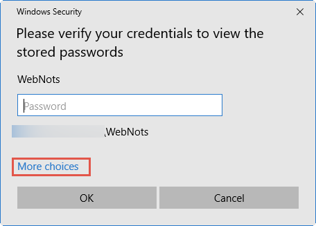 Enter Login Account Password
