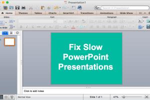Fix Slow PowerPoint Presentations