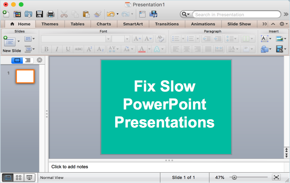 Fix Slow PowerPoint and Speedup Your Presentations