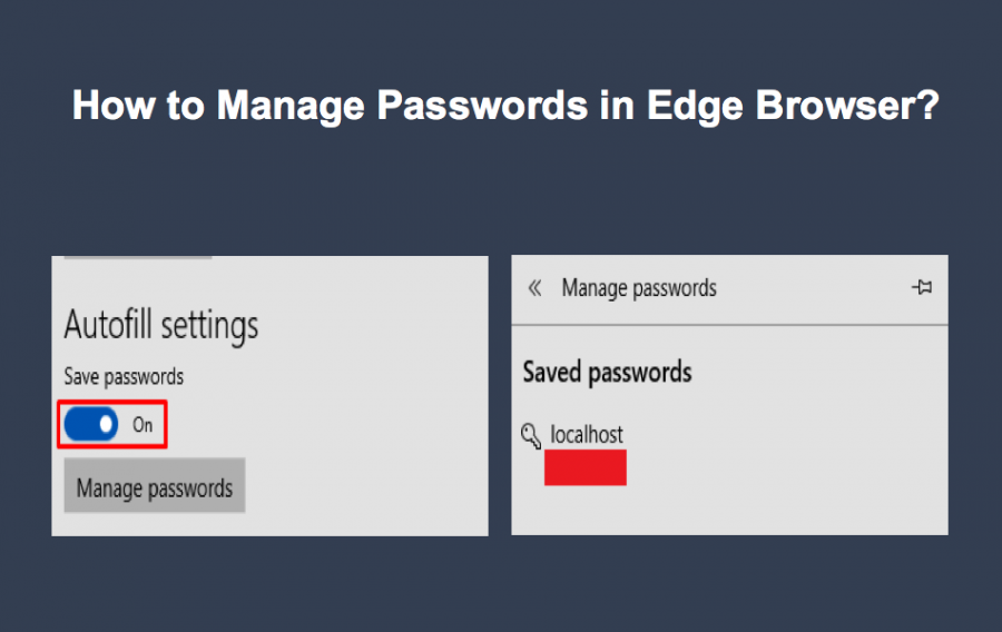 How to Manage Passwords in Edge?